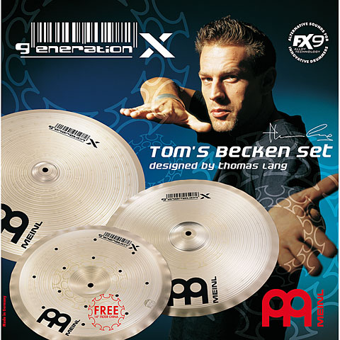 Meinl Generation X Tom's Becken Set (14CH/16C/18C)