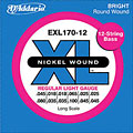 D'Addario EXL170-12 Nickel Wound .045-100 « Saiten E-Bass