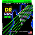 Saiten E-Gitarre DR Neon Green Medium