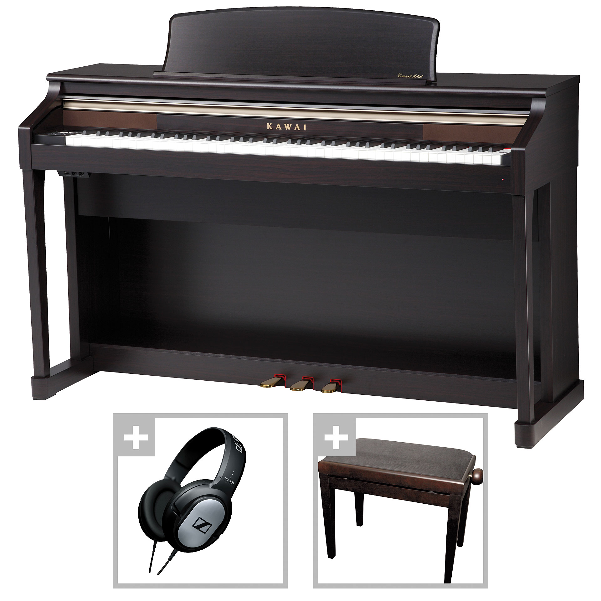kawai ca 65 rw bundle digitalpiano. Black Bedroom Furniture Sets. Home Design Ideas