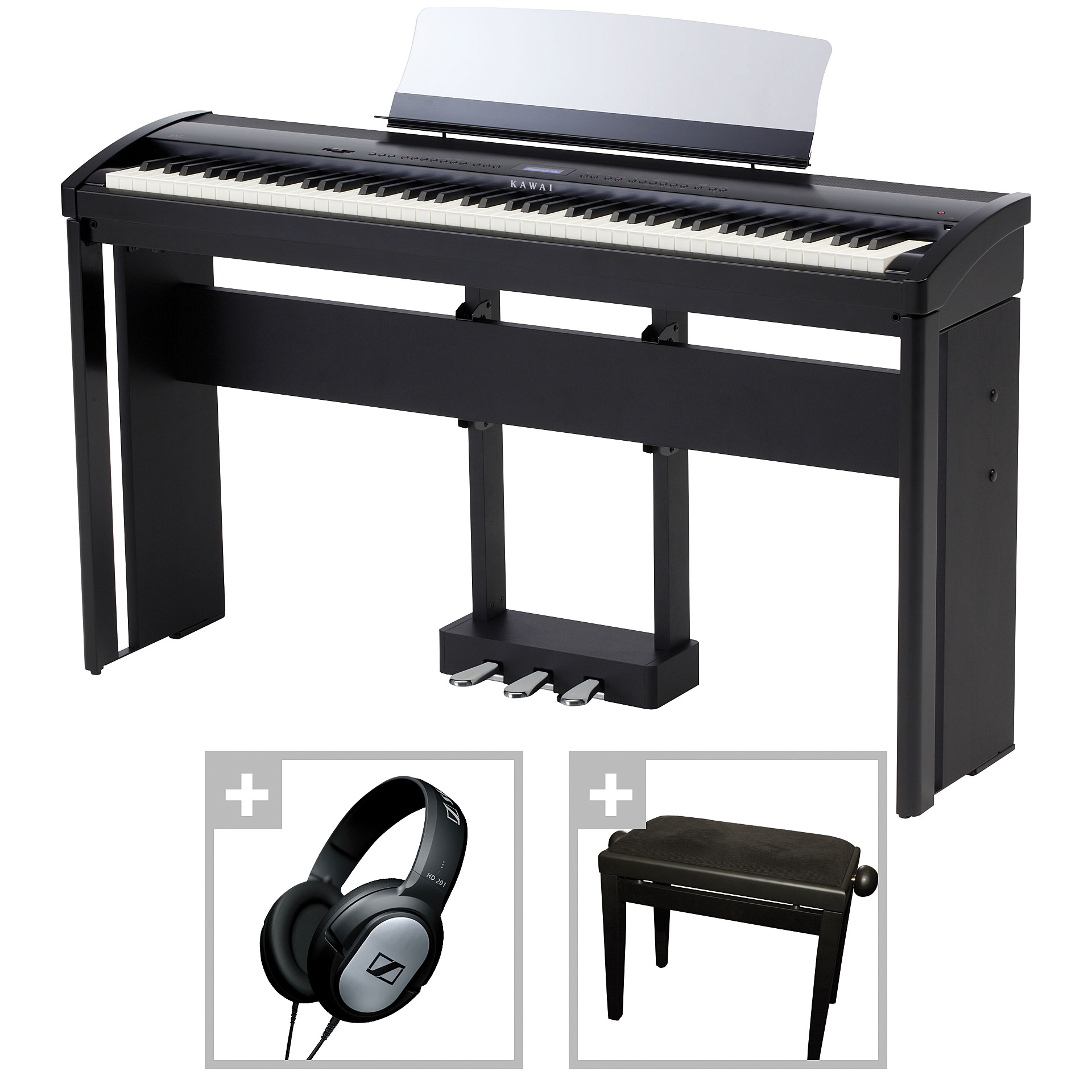 kawai es 7 b bundle iii stagepiano. Black Bedroom Furniture Sets. Home Design Ideas