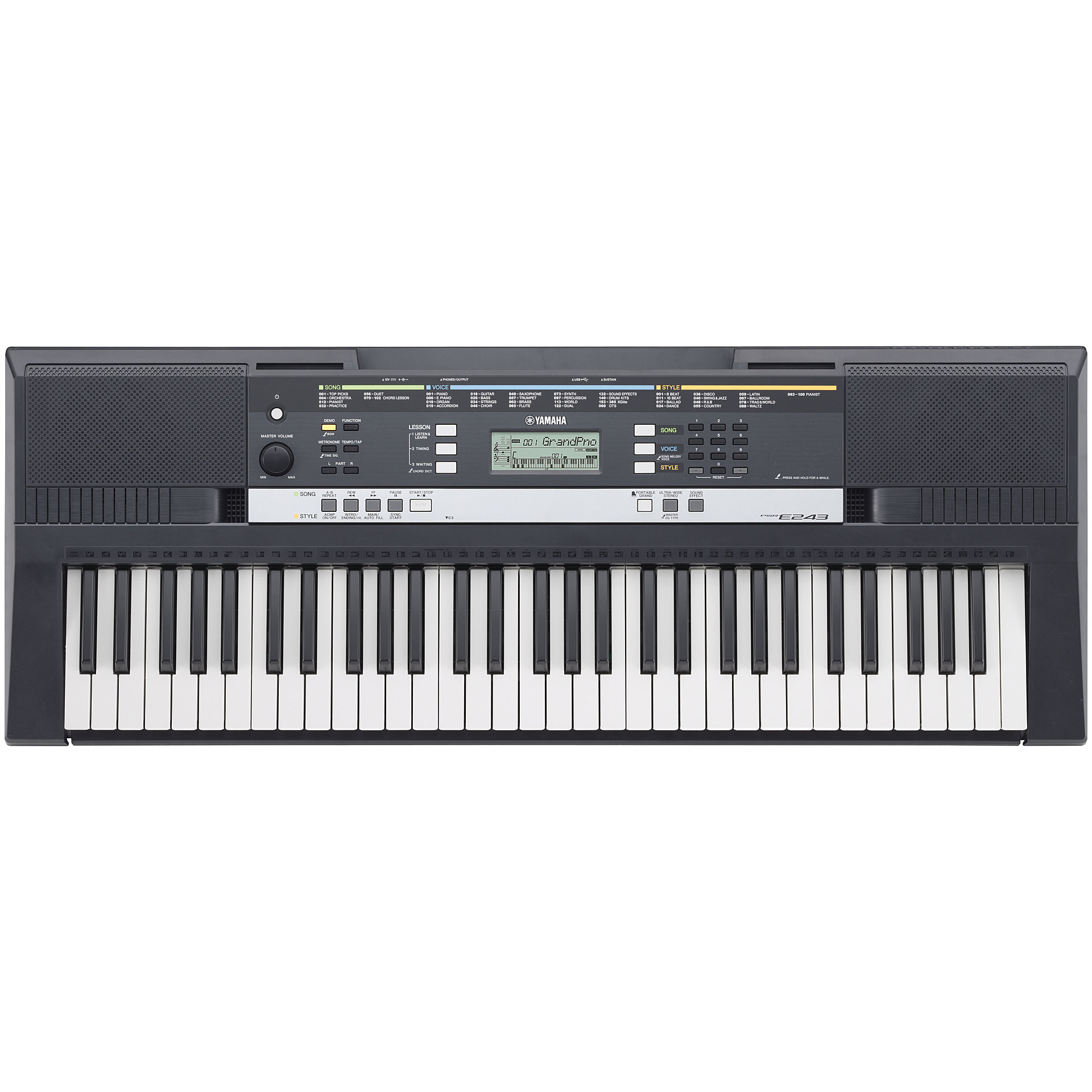 yamaha psr e243 keyboard. Black Bedroom Furniture Sets. Home Design Ideas