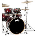 pdp Concept Maple CM5 Red to Black Sparkle Fade « Schlagzeug