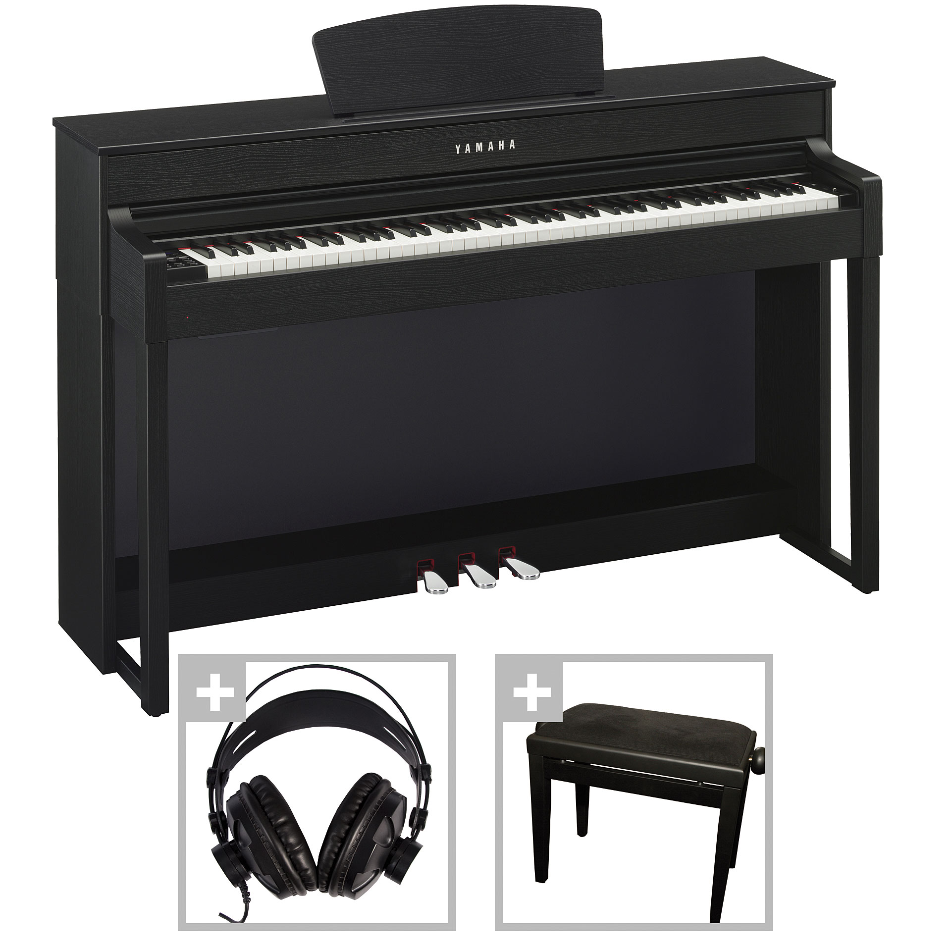 yamaha clavinova clp 535b bundle digitalpiano. Black Bedroom Furniture Sets. Home Design Ideas