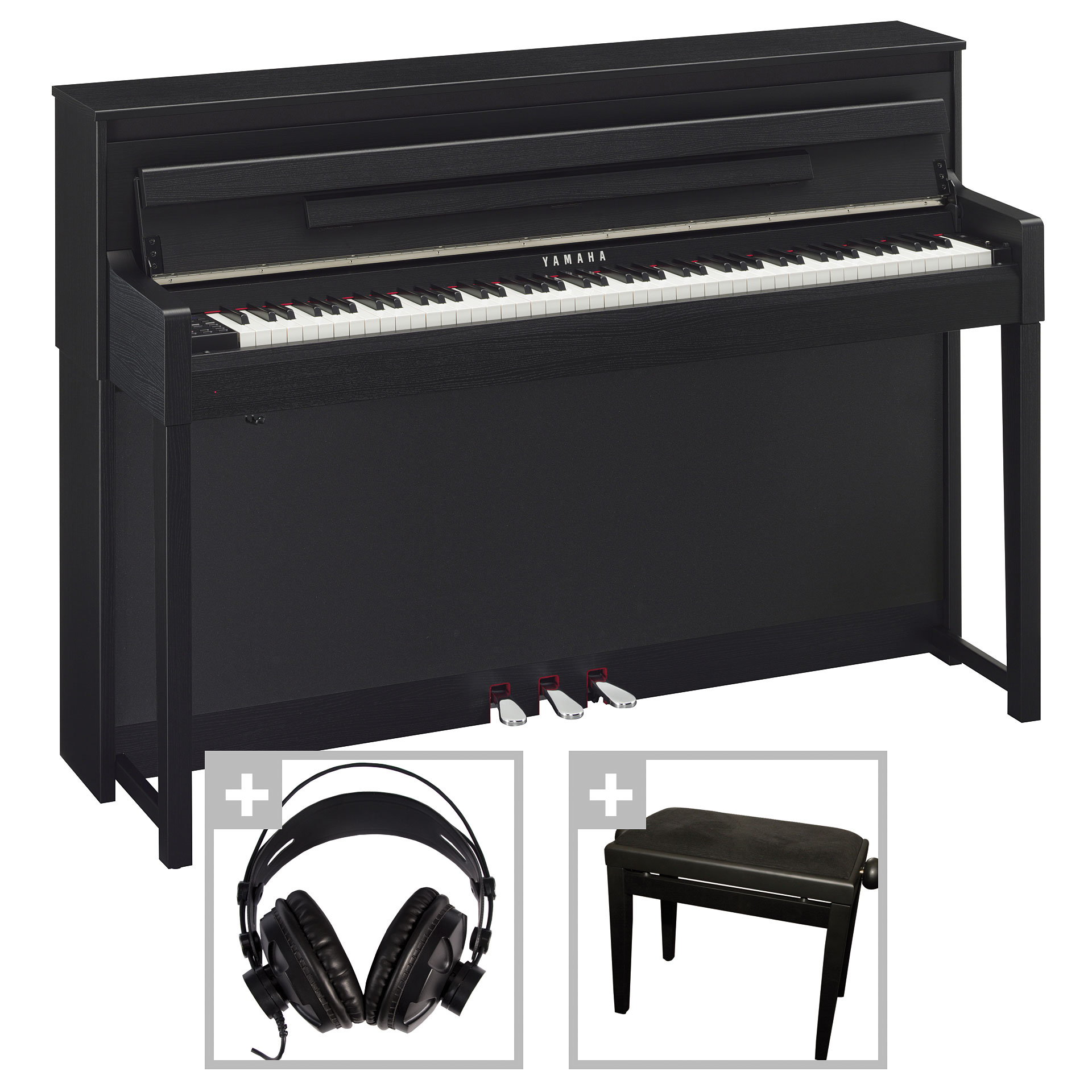 yamaha clavinova clp 585b bundle digitalpiano. Black Bedroom Furniture Sets. Home Design Ideas