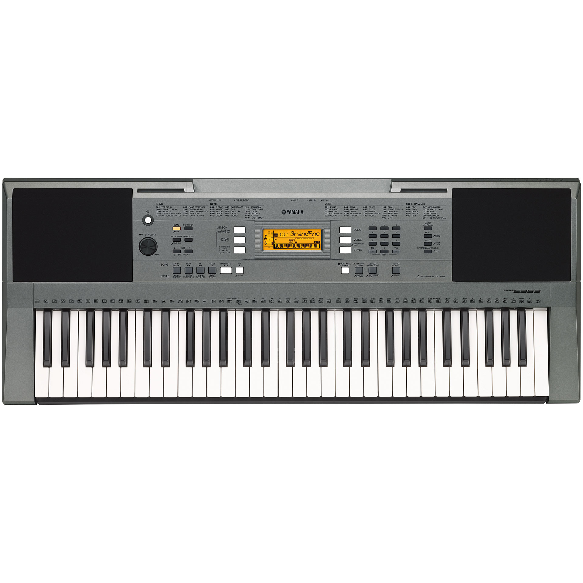 yamaha psr e353 keyboard. Black Bedroom Furniture Sets. Home Design Ideas