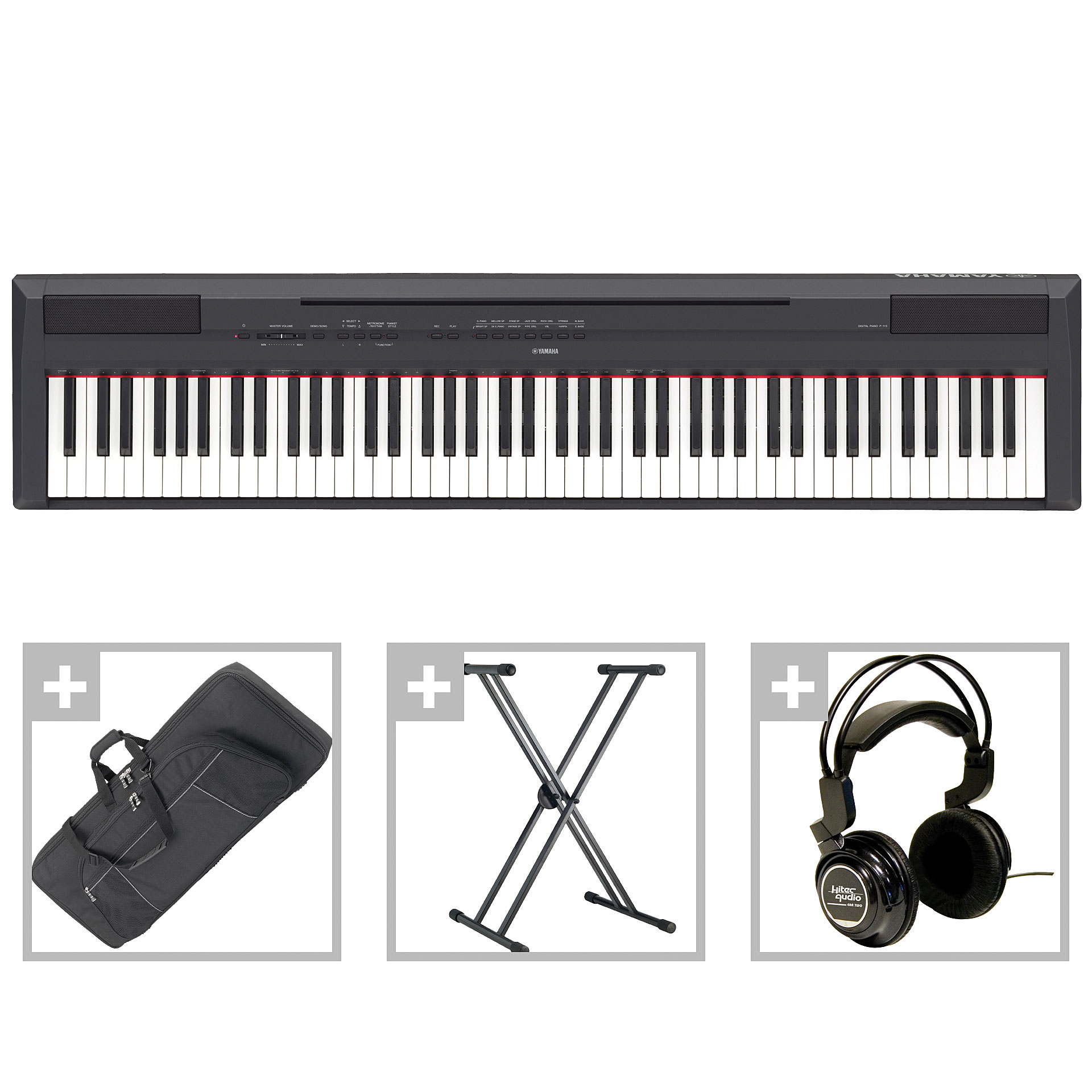 yamaha p 115 b bundle ii stagepiano. Black Bedroom Furniture Sets. Home Design Ideas