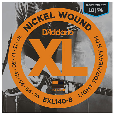D'Addario EXL140-8 Nickel Wound .010-074