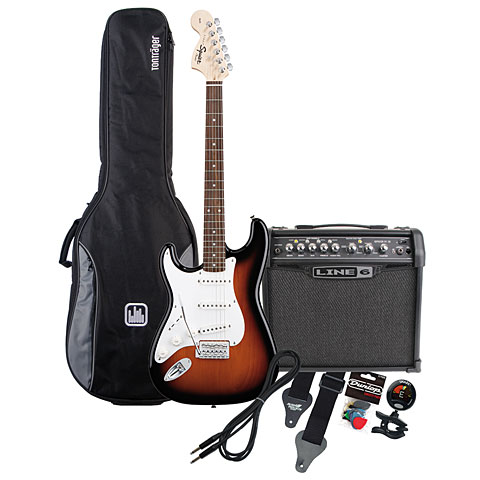 Squier Affinity Lefthand RW / Line 6 Spider IV 15 MP-Bundle