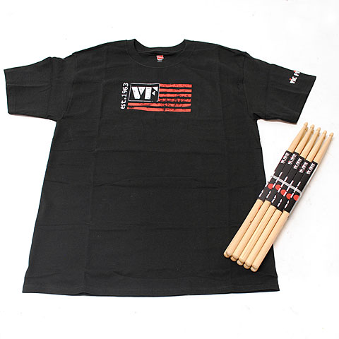 Vic Firth Value Pack 5 Pairs American Classic 5A + T-Shirt XL