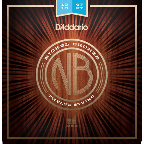 D'Addario NB1047-12 Nickel Bronze Set