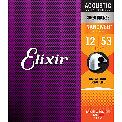 Elixir Nanoweb Bronze Light .012-053