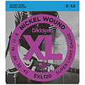 Струны для электрогитары  D'Addario EXL120 Nickel Wound .009-042