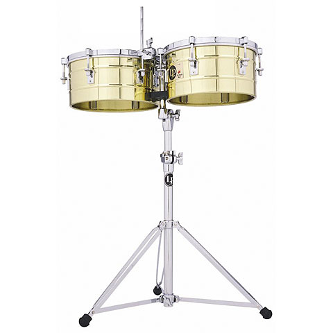 Latin Percussion Tito Puente 13  & 14  Timbales, Solid Brass