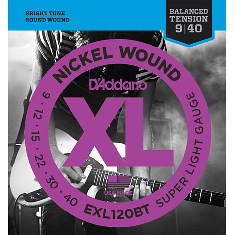 D'Addario EXL120BT Nickel Wound .009-040