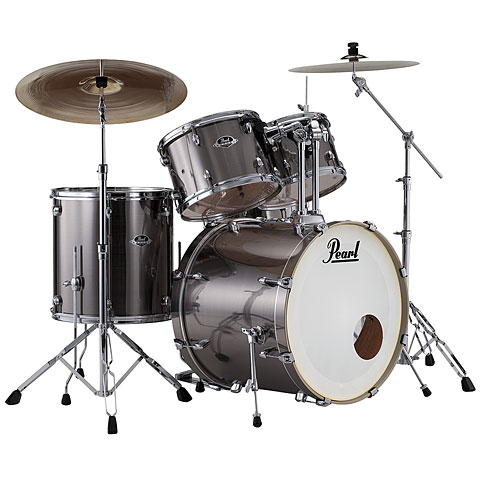 Pearl Export 22'' Smokey Chrome Complete Drumset Drums