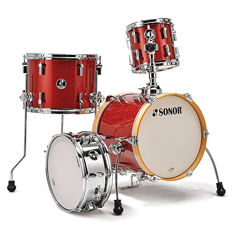 Sonor Martini SSE 14 Red Galaxy Sparkle Drums