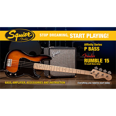 Squier Affinity P-Bass & Rumble 15, BSB