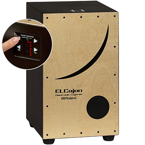 Roland ElCajon Electronic Layered Cajon Percussion
