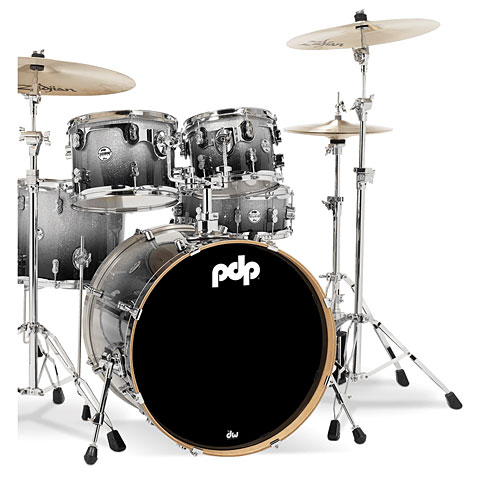 pdp Concept Maple CM5 Silver to Black Sparkle Fade