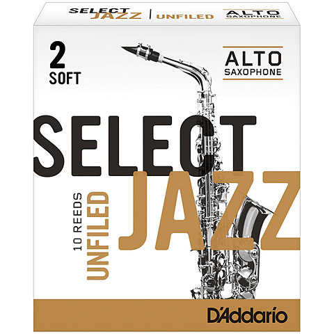 D'Addario Select Jazz Unfiled Alto Sax 2S