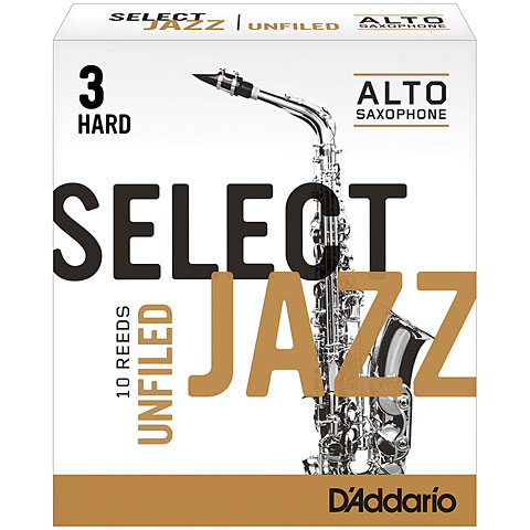 D'Addario Select Jazz Unfiled Alto Sax 3H
