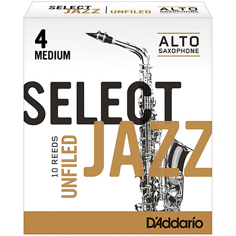 D'Addario Select Jazz Unfiled Alto Sax 4M