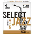 D'Addario Select Jazz Unfiled Alto Sax 4M « Blätter