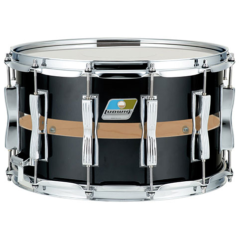 Ludwig Slotted Coliseum 14 x 8  Black Cortex