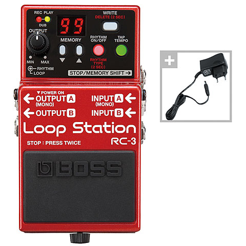 Boss RC-3 Power Bundle