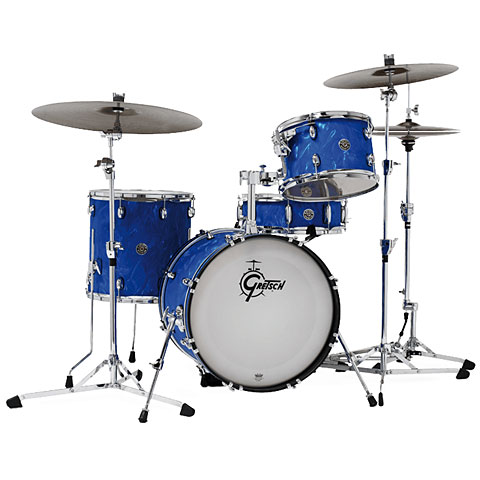 Gretsch Drums Catalina Club Series 18'' Blue Satin Flame Drumset Drums