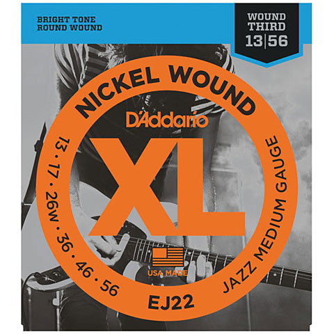 D'Addario EJ22 Nickel Wound .013-056