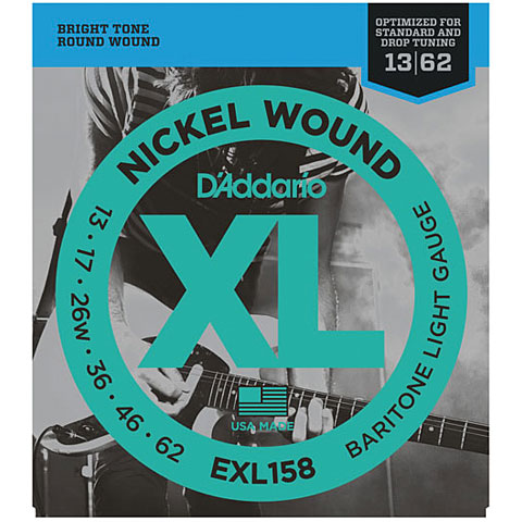 D'Addario EXL158 Nickel Wound .013-062